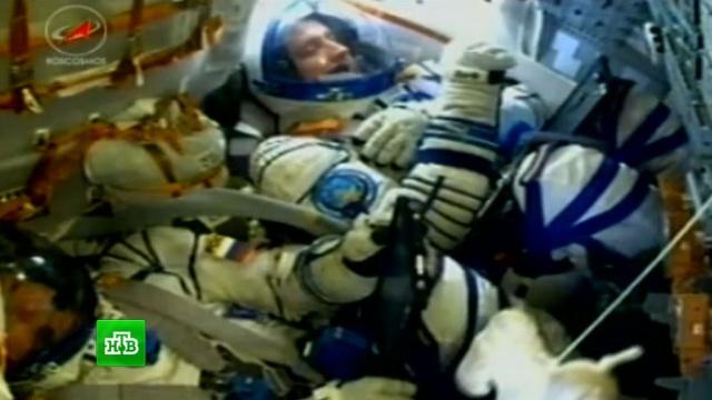 Корабль «Союз» доставил двух космонавтов на МКС.Байконур, МКС, космонавтика, космос, наука и открытия.НТВ.Ru: новости, видео, программы телеканала НТВ