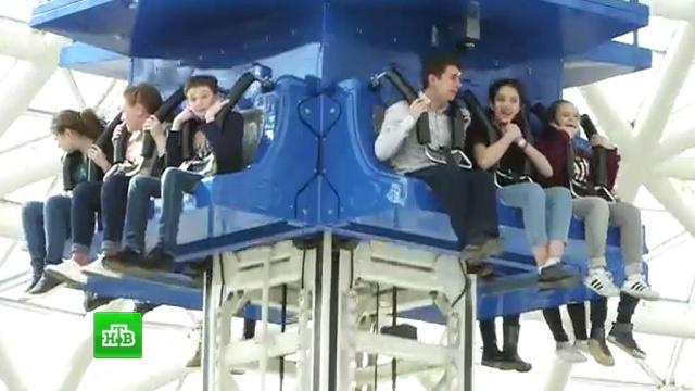 Юные артисты шоу «Ты супер!» прокатились на каруселях впарке аттракционов.НТВ.Ru: новости, видео, программы телеканала НТВ