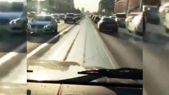 <nobr>Гонщик-мажор</nobr> Шамсуаров опубликовал видео заезда по выделенной полосе