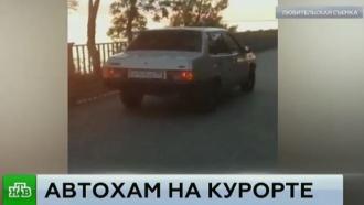 Полиция наказала лихача, устроившего заезд на набережной в Анапе