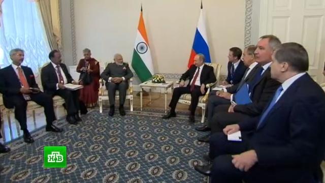 Путин обсудил с премьером Индии проекты в области энергетики.Индия, Путин, Санкт-Петербург, атомная энергетика, инвестиции, промышленность, экономика и бизнес.НТВ.Ru: новости, видео, программы телеканала НТВ