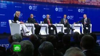 Дебаты с&nbsp;участием Владимира Путина на <nobr>ПМЭФ-2017</nobr>
