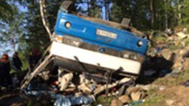 ДТП в Забайкалье: автобус рухнул с 30-метрового обрыва.ДТП, Забайкальский край, автобусы.НТВ.Ru: новости, видео, программы телеканала НТВ
