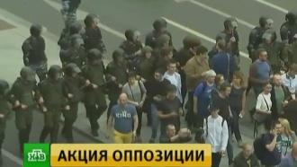 На акцию оппозиции на проспекте Сахарова пришли около 1000человек