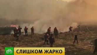 Лесные пожары вЗабайкалье: авиация защищает от огня населенные пункты