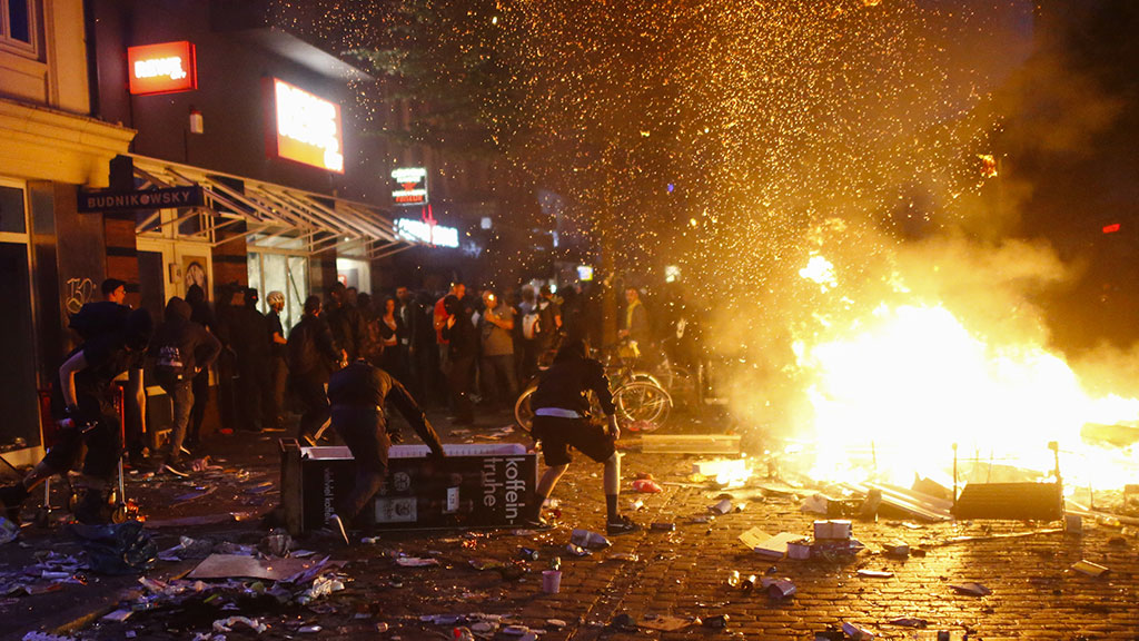 Протестующие во время саммита G-20 нанесли ущерб Гамбургу на 12 миллионов евро