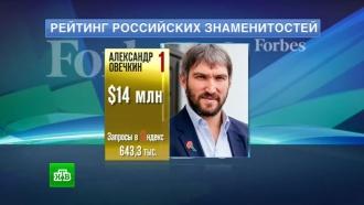 Овечкин иКиркоров возглавили топ российских знаменитостей