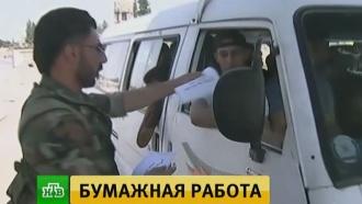 Сирийские военные раздают семьям боевиков листовки спризывом сдаться