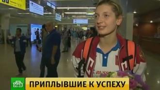 В Москве встретили сборную России по плаванию