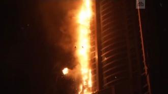 Пожар внебоскребе Torch Tower вДубае