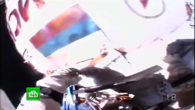 Юрчихин и Рязанский в открытом космосе испытали новейший скафандр «Орлан-МКС».МКС, космонавтика, космос, наука и открытия.НТВ.Ru: новости, видео, программы телеканала НТВ