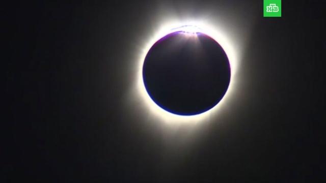 В США завершилось полное солнечное затмение.США, Солнце, астрономия, затмения, наука и открытия.НТВ.Ru: новости, видео, программы телеканала НТВ