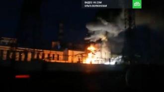 На Новосибирской ТЭЦ после хлопка вспыхнул пожар