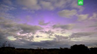 Необычное северное сияние сняли вНовосибирской области