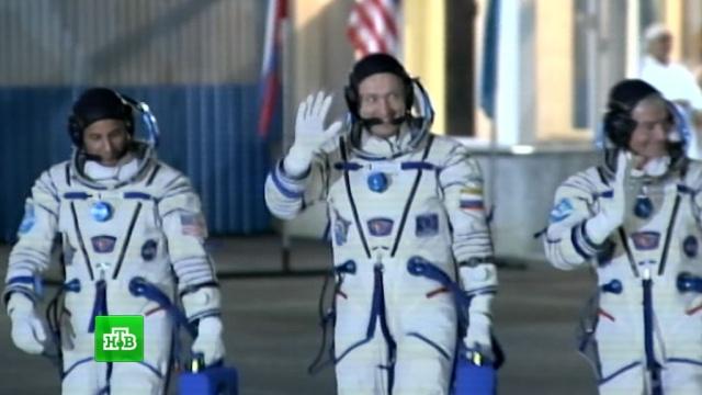«Союз» сновым экипажем МКС вышел на околоземную орбиту.Байконур, МКС, НАСА, Роскосмос, космос, ракеты.НТВ.Ru: новости, видео, программы телеканала НТВ