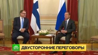 Медведев обсудил с финским коллегой ключевые экономические проекты двух стран