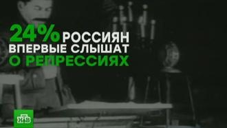 Каждый четвертый россиянин не знает о сталинских репрессиях