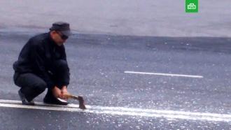 Житель Тольятти пытался разрубить топором двойную сплошную