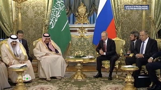 Визит саудовского короля: почему партнер Вашингтона заинтересовался Россией.Путин, США, Саудовская Аравия, Сирия, вооружение.НТВ.Ru: новости, видео, программы телеканала НТВ