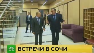 Путин встретился сглавами Молдавии иТаджикистана накануне саммитов вСочи
