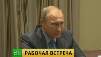 Путин обсудил сгубернатором развитие Курской области