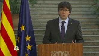 Пучдемон отказался признать отстранение правительства Каталонии