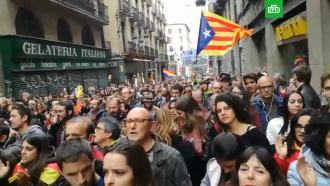В Каталонии митингующие перекрыли десятки дорог и железнодорожных путей