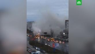 Появилось видео сместа обрушения дома вИжевске