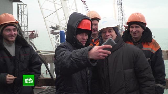 Газманов побывал на строящемся через Керченский пролив мосту.Газманов, Крым, Украина, мосты, санкции, строительство.НТВ.Ru: новости, видео, программы телеканала НТВ