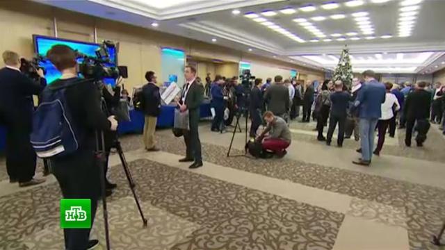 В Москве все готово к началу большой пресс-конференции Путина.Путин, СМИ, журналистика.НТВ.Ru: новости, видео, программы телеканала НТВ