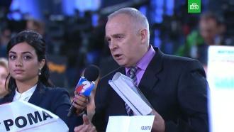&laquo;Я вас обманул!&raquo;: на <nobr>пресс-конференцию</nobr> Путина проник директор рыбокомбината