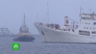 Кронштадт проводил «Адмирала Владимирского» в Индийский океан