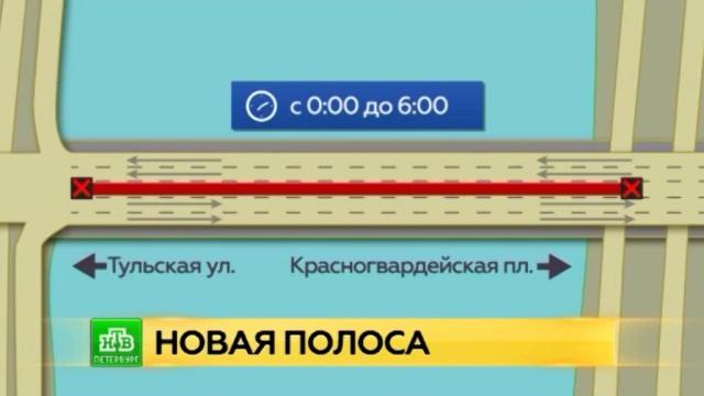 В Петербурге впервые запустили реверсивное движение.Санкт-Петербург, автомобили, дорожное движение, мосты.НТВ.Ru: новости, видео, программы телеканала НТВ