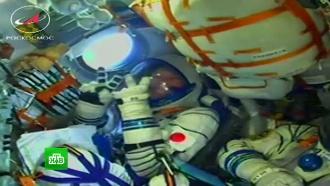 «Союз» сновым экипажем пристыковался кМКС