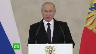Путин назвал взрыв впетербургском магазине терактом