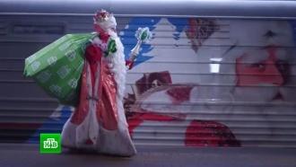 Москвичи встретили Деда Мороза «в кругу семьи» на Поклонной горе