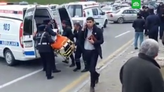 Пассажирский автобус перевернулся вБаку: 12пострадавших