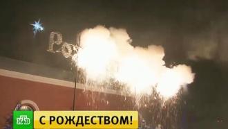 В&nbsp;Сибири в&nbsp;Рождественскую ночь устроили <nobr>файер-шоу</nobr>