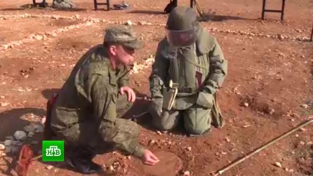 Российские специалисты обучили сирийских военных саперному делу.Сирия, армии мира, армия и флот РФ, войны и вооруженные конфликты, разминирование.НТВ.Ru: новости, видео, программы телеканала НТВ