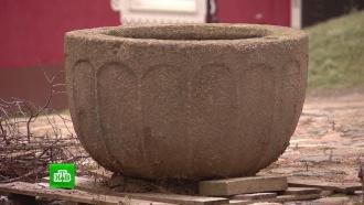 На кладбище под Калининградом нашли каменную крестильную чашуXIV века