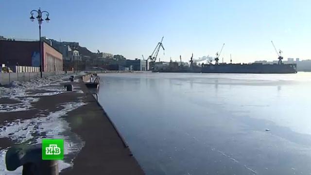 Аномальные морозы сковали льдом «незамерзающую» бухту во Владивостоке.Владивосток, Дальний Восток, Приморье, погода, снег, штормы и ураганы.НТВ.Ru: новости, видео, программы телеканала НТВ