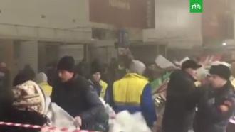 МЧС: пожар на рынке «Садовод» вМоскве потушен