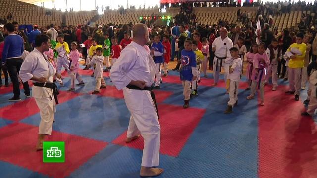 Российские мастера боевых искусств устроили в Сирии показательные выступления.Сирия, спорт.НТВ.Ru: новости, видео, программы телеканала НТВ