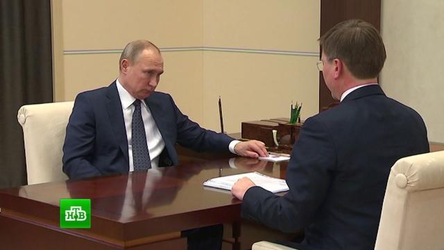 Глава «Алросы» показал Путину два уникальных драгоценных камня.алмазы, Путин.НТВ.Ru: новости, видео, программы телеканала НТВ