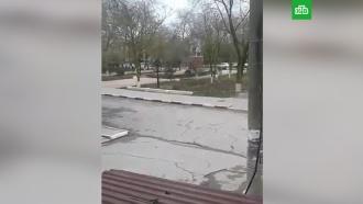 Стрельба ухрама вДагестане попала на видео