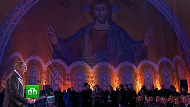 Лавров в Белграде посетил храм Святого Саввы.Лавров, МИД РФ, Сербия, дипломатия.НТВ.Ru: новости, видео, программы телеканала НТВ