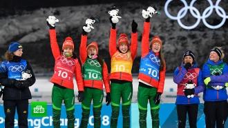 Белоруска Домрачева стала самой титулованной биатлонисткой вистории Игр