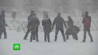 «Зверь с востока»: аномальные холода со снегопадами сковали города Европы