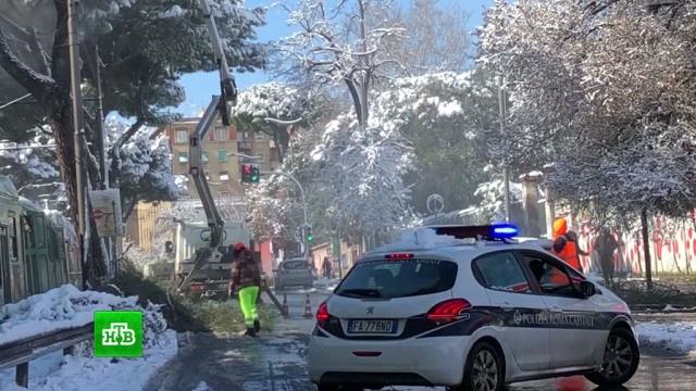 ВЕвропе от холода умерли 10человек.Италия, погода, Европа, Великобритания, погодные аномалии, Рим, снег.НТВ.Ru: новости, видео, программы телеканала НТВ