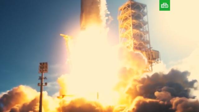 Нолан иМаск смонтировали ролик запуска ракеты Falcon Heavy.Илон Маск, США, запуски ракет, космос.НТВ.Ru: новости, видео, программы телеканала НТВ